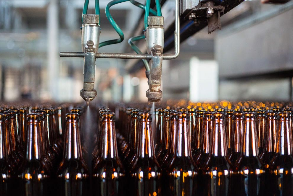 Циркуляция пивных бутылок