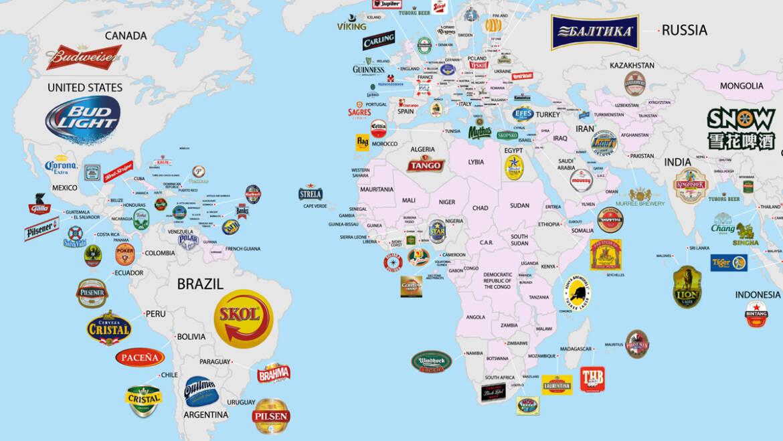 Составлена карта популярности пива